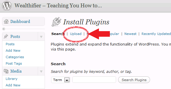 installing and activating the Unique Article Wizard WordPress plugin